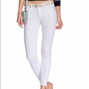 Joe's Jeans Skinny Ankle Jeans White Cotton Blend